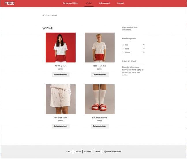 Febo kleding winkel